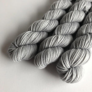 Silver Gray Extrafine Merino Sock Yarn Mini Skein