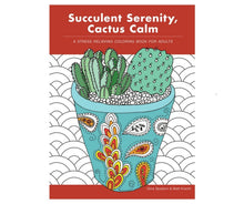 Load image into Gallery viewer, Succulent Serenity, Cactus Calm Coloring Book