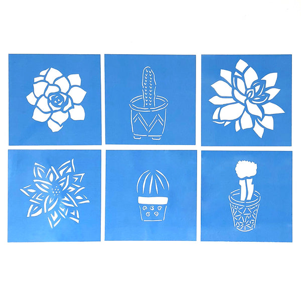 Reusable Cactus and Succulent Stencils