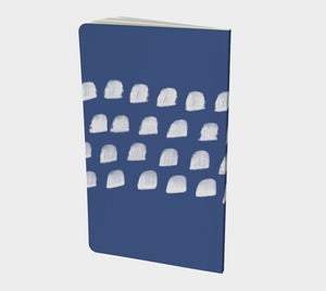 Notebook with White Clouds on Blue - plain, graph, or bullet dot grid paper