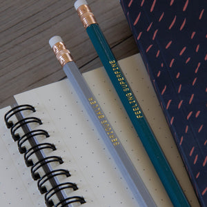 Spiral Notebook - Coral Yarn on Indigo - plain, graph, or bullet dot grid paper