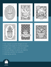 Load image into Gallery viewer, Succulent Serenity Coloring Book