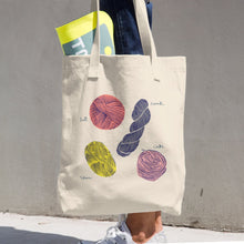 Load image into Gallery viewer, Large Tote / Project Bag in Bull Cotton Denim - Yarn Styles
