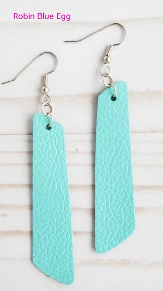 Earrings Leather Bar