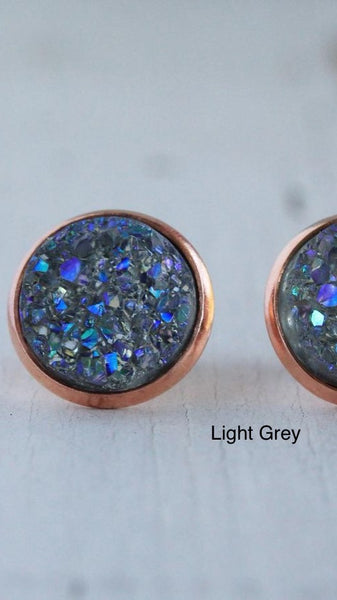 Earrings Druzy