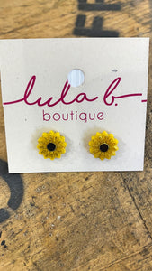 Earrings Sunflower