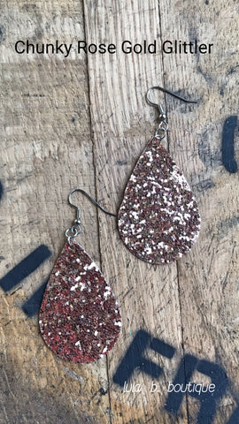 Earrings Faux Leather