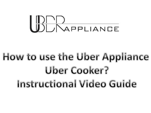 How to use the Uber Appliance Uber Cooker UB-CK1 Instructional Video Guide Uber Appliance