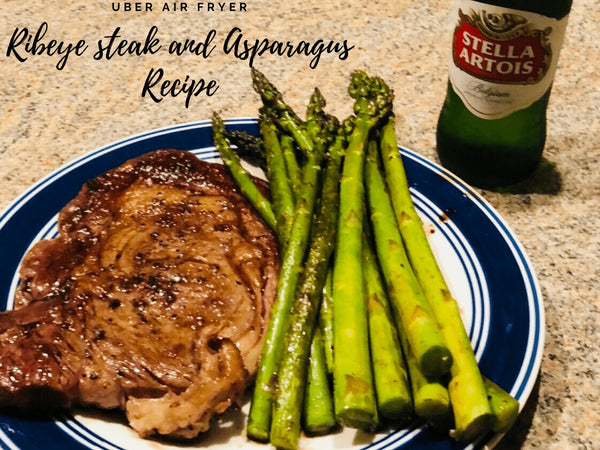 Uber Air Fryer Ribeye Steak and Asparagus Recipe (Keto Friendly) Uber Appliance