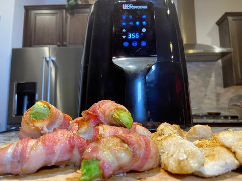 Uber Appliance Air Fryer with Bacon Avocado Wraps