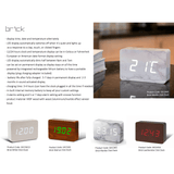 Gingko Brick Click Clock