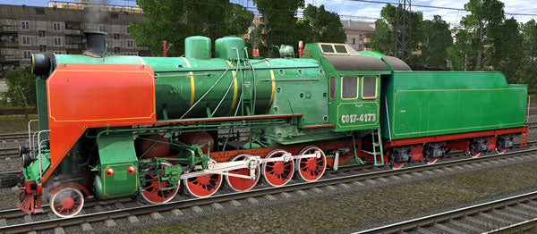 CO17-4173 ( Russian Loco and Tender )
