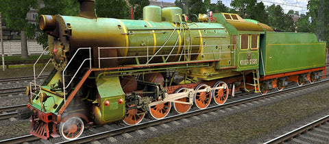 CO17-1374 ( Russian Loco and Tender )