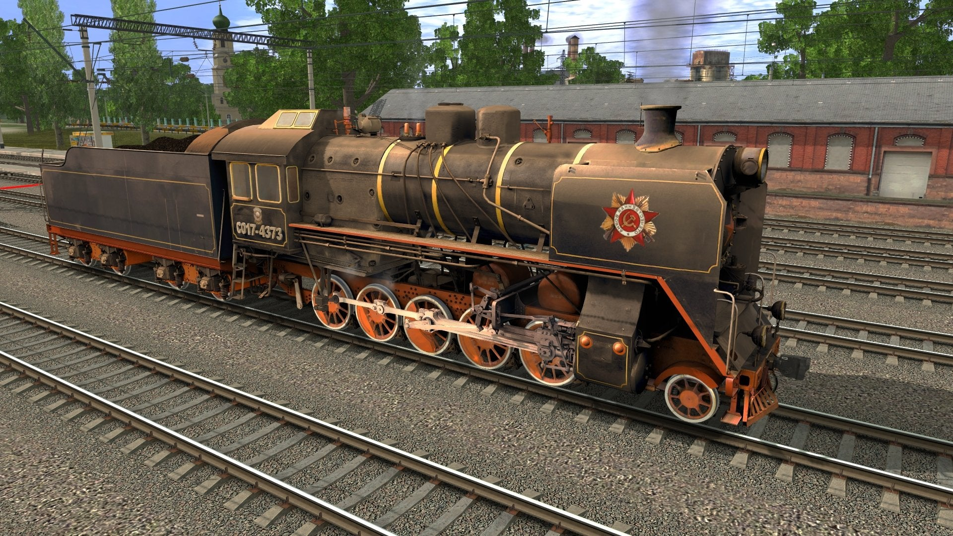 CO17-4373 ( Russian Loco and Tender ) ...