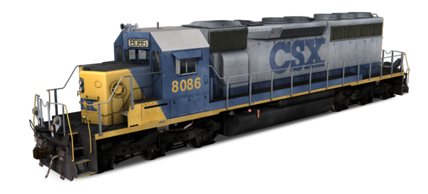 CSX Transportation -  EMD SD40-2 YN2 Dirty