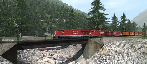 Trainz Route: Canadian Rocky Mountains Viktor Lake to Ross Peak and Glacier