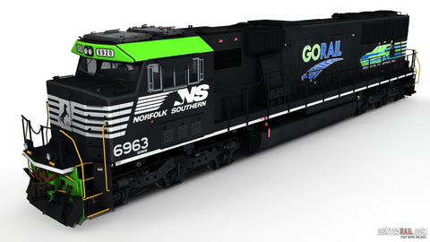 NS SD60E - 6963 GoRail
