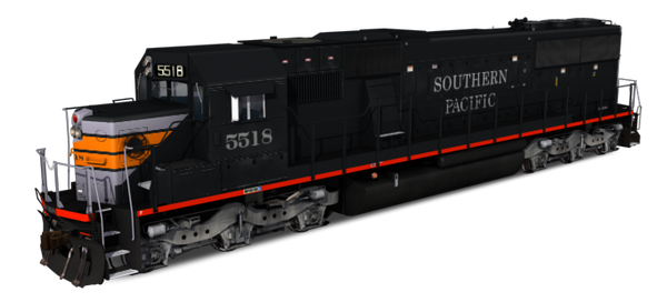 Southern Pacific - EMD SD50 Black Widow