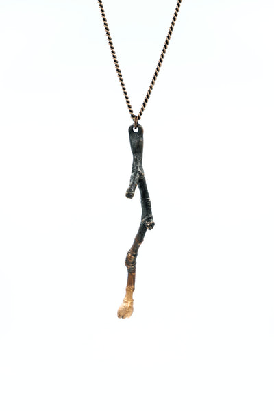 Copper Branch Pendant Necklace