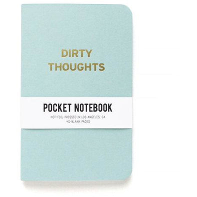 Dirty Thoughts Pocket Notebook by Word For Word Factory - Shrill Society