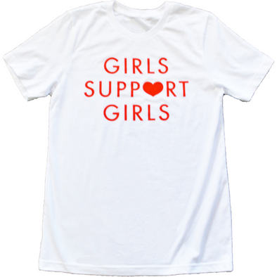 Girls Support Girls White Shirt by Daisy Natives - Shrill Society