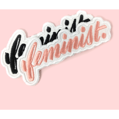 Big F, Little F Feminist Embroidered Patch by Eythink - Shrill Society