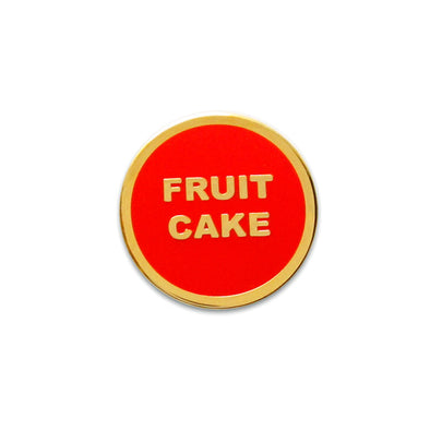 Fruit Cake Holiday Enamel Pin by Word For Word Factory