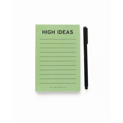 High Idea Notepad by Word For Word Factory - Shrill Society