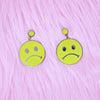 Sad Face Earrings by Made Au Gold - Shrill Society