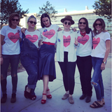 Katy Perry and Friends model Nasty Woman shirts in Las Vegas for Clinton Campaign