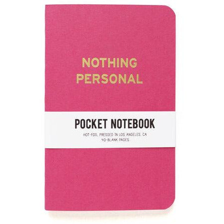 Nothing Personal Pocket Notebook by Word For Word Factory - Shrill Society