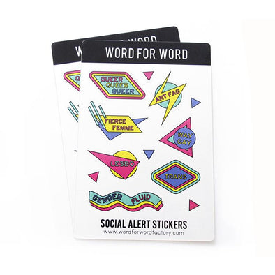 SALE QUEER STICKERS, 2-PK, by Word For Word Factory - Shrill Society