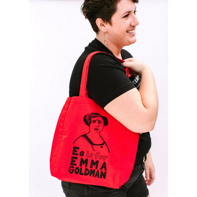 E is for Emma Goldman Tote Bag by Grow Wild Studio - Shrill Society