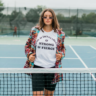 Cool & Intelligent & Strong & Fierce by Daisy Natives - Shrill Society