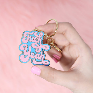 F Yeah Blue Keychain by Made Au Gold - Shrill Society