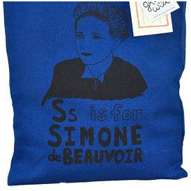 S is for Simone de Beauvoir Tote Bag by Grow Wild Studio - Shrill Society