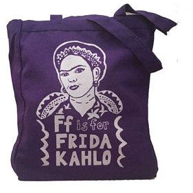 F is for Frida Kahlo Tote Bag by Grow Wild Studio - Shrill Society