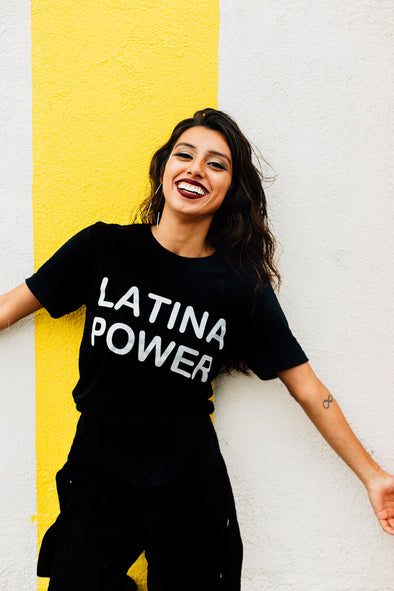 LATINA POWER BLACK SHIRT by Jen Zeano - Shrill Society