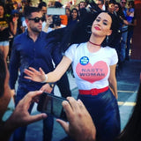 Katy Perry wears Nasty Woman shirt for Hillary Clinton