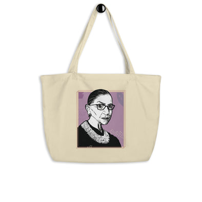RBG Portrait Organic Tote Bag - Shrill Society