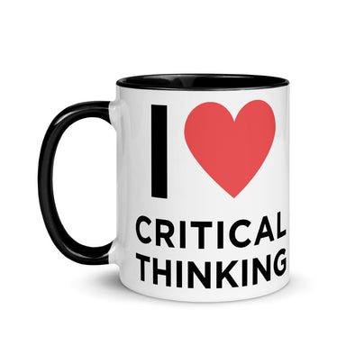 I Love Critical Thinking Ceramic Mug - Shrill Society