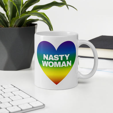 Nasty Woman Rainbow Mug - Shrill Society