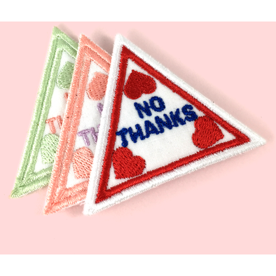 No Thanks Embroidered Patch by Eythink - Shrill Society