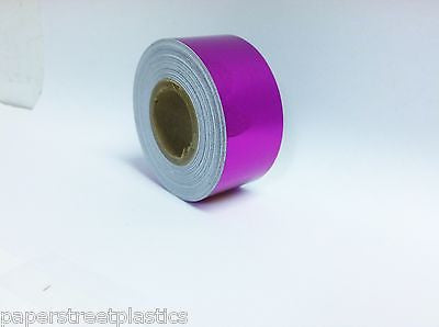 1//2 Inch x 25 feet ANY 6 COLORS Chrome Look Vinyl Tape Your Color Choice