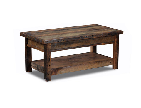 Standard Coffee table manufactured in the USA with reclaimed wood by reclaimed wood designs