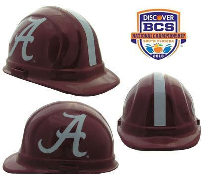 Alabama Crimson Tide Safety Hats, Head - CustomSafetyVests.com