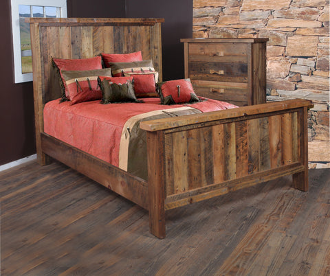 King Bedstead manufactured in the USA with reclaimed wood by reclaimed wood designs