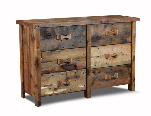 6 Drawer dresser manufactured in the USA with reclaimed wood by reclaimed wood designs