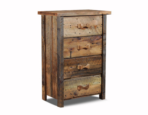 4 drawer chest manufactured in the USA with reclaimed wood by reclaimed wood designs