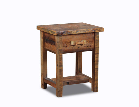 1 drawer night stand manufactured in the USA with reclaimed wood by reclaimed wood designs